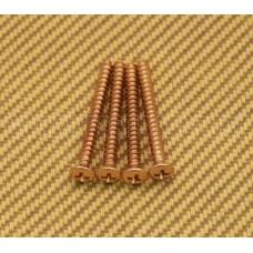 001-8785-049 (4) Genuine Fender Gold Neck Mounting Screws 0018785049