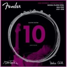 073-0250-609 Jimi Hendrix Voodoo Child Nickel Plated Steel Fender Electric Guitar Strings 0730250609