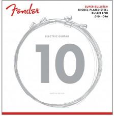 073-3250-406 3250 Fender Super Bullets Electric Guitar Strings Nickel Plated Steel .010-.046  0733250406
