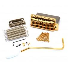 099-2049-200 Genuine Fender Pure Vintage Gold Block Stratocaster Tremolo Bridge 0992049200