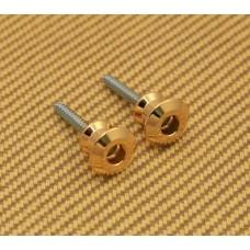 AP-6582-002 Dunlop Dual Design Strap Lock Gold Replacement Buttons
