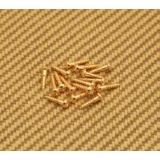 "GS-3376-002 Gold 3/8"" Tuner Machine Head Mount Screws for Guitar/Bass"