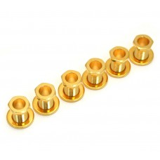 TK-0786-002 (6) Gold Screw-In Tuner Bushings and Washers for Modern Guitars