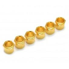 TK-0788-002 (6) Gold Vintage Style Hex Press-In Guitar Tuner Bushings