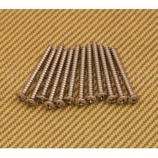 001-5636-049 (12) Genuine Fender Neck Plate /Tremolo Claw Mounting Screws Nickel