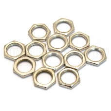 001-6352-049 Genuine Fender (12) Nickel Nuts for Full Size/CTS Pots