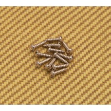001-8370-049 (12) Fender Guitar/Bass Slotted Tuning Machine Mounting Screws 0018370049