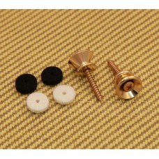 001-8916-049 (2) Gold Genuine Fender Original Vintage Series Strap Buttons