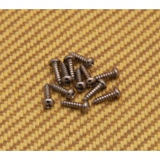 002-1405-049 (12) Chrome Tuner & String Guide Mounting Screws For Guitar or Bass 0021405049