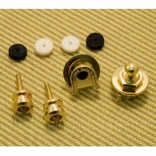 002-2043-049 (2) Fender Schaller Gold Strap Locks