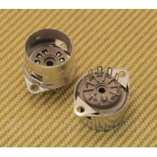 002-3606-049 (2) Genuine Fender 9 Pin Tube Socket