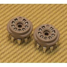 002-9167-049 Fender Amp Blues Deluxe 9 Pin PCB Mount Tube Sockets