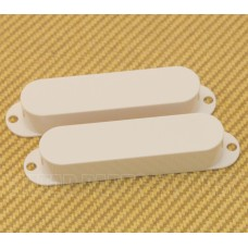 003-5570-049 Genuine Fender White '65 Mustang & Bronco Bass Guitar Pickup Covers 0035570049