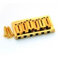 003-6808-000 Fender American Series Gold Hardtail Strat Guitar Bridge