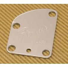 003-7286-000 Fender Deluxe Neck Plate Chrome for Toronado Beck Strat Guitar