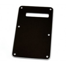 003-8949-000 Fender Left-Handed Stratocaster SRV B/W/B Back Plate Tremolo Cover Black