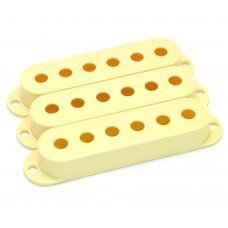 005-3824-049 (3) Genuine Fender Aged White Stratocaster/Strat Pickup Covers 0053824049