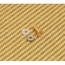 006-0872-000 Genuine Gretsch Pickguard Gold Mounting Bolt & Screw