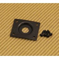 006-2424-000 Fender Squier Guitar Black Curved Recessed Rectangle Jack Plate