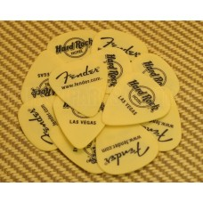 006-2865-000 Fender Hhard Rock Hotel Las Vegas Picks Yellow .71MM