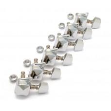 007-3859-000 Fender Squier Bullet Chrome 6 Inline Diagonal COB/CY Guitar Tuners