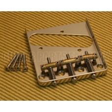 007-4944-000 Fender Squier Classic Vibe 3-Saddle Nickel Tele Guitar Bridge