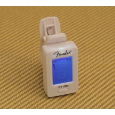023-9977-002 Fender White Headstock Clip-on FT-004 Chromatic Guitar/Bass Tuner