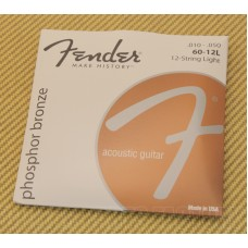073-0060-123 Fender 60/12L Phosphor Bronze Strings 0730060123