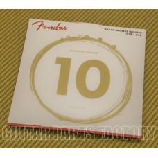 073-0070-402 Fender 80/20 Bronze Acoustic Strings Light  .010-.048 0730070402