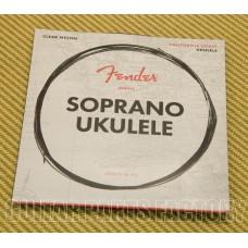073-0090-402 Fender Clear Nylon Tie-End Soprano Ukulele Strings ADF#B 0730090402