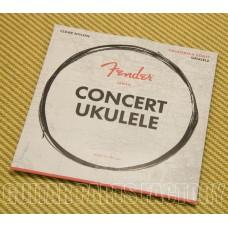 073-0090-403 Fender Clear Nylon Tie-End Concert Ukulele Strings GCEA 0730090403