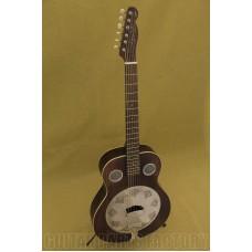 095-5006-092 Fender Brown Derby Resonator Guitar w/ Continental Cone