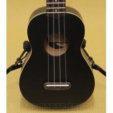 097-1610-506 Fender® California Coast Venice Soprano Ukulele Tele Headstock Uke Black Satin 0971610506