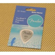 098-0351-721 Fender Tru-Shell Extra Heavy Guitar Pick USA Made 351 Shape 0980351721