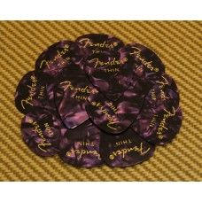 098-0351-776 Fender Thin 351 Purple Moto Guitar Picks