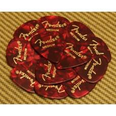 098-0351-809 Fender Medium 351 Red Moto Guitar Picks