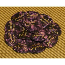 098-0351-876 Fender Medium 351 Purple Moto Guitar Picks