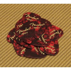 098-0351-909 Fender Heavy 351 Red Moto Guitar Picks