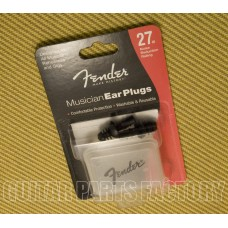 099-0542-000 Fender Musician Series Ear Plugs Black 27dB noise reduction 0990542000