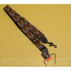 099-0614-001 Genuine Fender 2in Woven Woodstock Hootenanny Adjustable Guitar Strap with Logo 0990614001