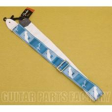 099-0627-085 Genuine Fender 2in Monogrammed Guitar/Bass Strap Seafoam Green 0990627085
