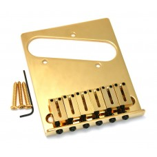 099-0807-200 Fender American Series Gold Tele Offset Saddle Bridge