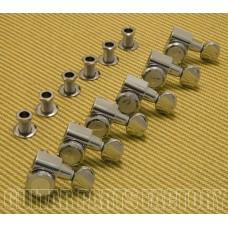 099-0818-500 Genuine Fender Round Button Chrome F Locking Tuners for Strat/Tele 0990818500