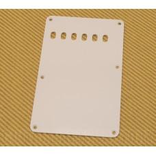 099-1320-000 Genuine Fender 1-ply White Back Plate Vintage Stratocaster 6-Hole