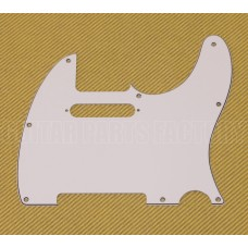 099-1355-000 Genuine Fender 3-Ply White Standard 8-Hole Telecaster Pickguard
