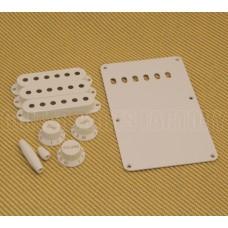 099-1362-000 Fender Guitar White Strat Accessory Kit Knobs Covers Back Plate 0991362000