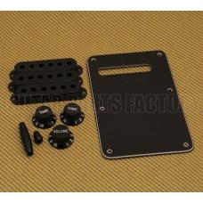 099-1363-000 Genuine Fender Guitar Black Strat Accessory Kit Knobs Back Plate Tips 0991363000