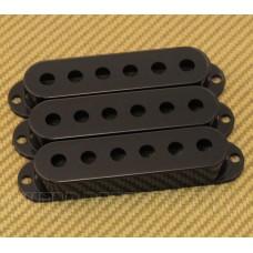 099-1364-000 (3) Genuine Fender Black Stratocaster/Strat Pickup Covers 0991364000