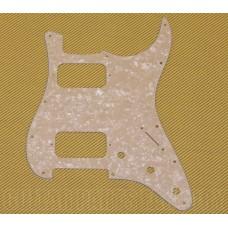 099-1371-000 White Moto Fender Double HH Stratocaster Guitar Humbucker Pickguard