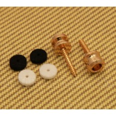 099-4914-200 (2) Genuine Fender Gold American Series Strap Buttons